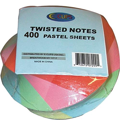 Twisted Notes , 400 Sheets, Pastel Colors, Case Pack of 48, Ideal for Bulk Buyers