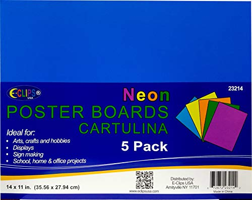 "Poster Board, 11""x 14"", neon, 5pk, Case Pack of 48, Ideal for Bulk Buyers"