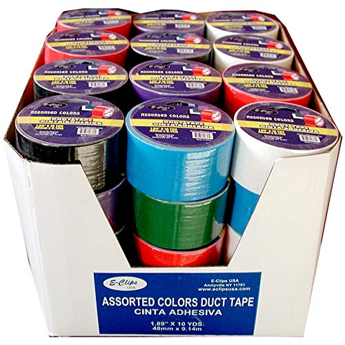 "Duct Tape, Assorted Colors, 1.89"" x 10 Yds Case Pack of 48, Ideal for Bulk Buyers"