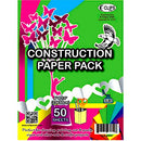 "AUKSales Construction Paper Pack, 9""x 12"", 50 Sheets, asst. Colors, Case Pack of 48, Ideal for Bulk Buyers"