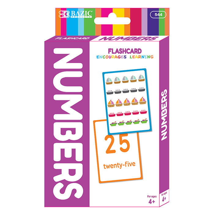 Numbers Flash Cards (36/Pack)