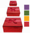 Deluxe Solid Colors Nest Gift Boxes, 3pk, Red, Green, Gold & Purple, Case Pack of 48, Ideal for Bulk Buyers