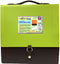 "BEAUTONE Cascade File 7 Pockets 12 x 12"" - Lime , Case Pack of 12 , Ideal for Bulk Buyers"