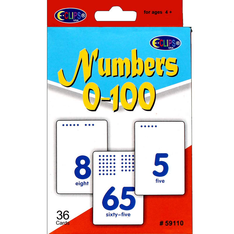 AUKSales Flash Cards, Numbers, 36 Cards, Case Pack of 48 , Ideal for Bulk Buyers