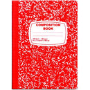 Composition Notebook, 100 Sheets, Red, Case Pack of 48, Ideal for Bulk Buyers