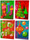 Christmas Extra-Large Glossy Bag, Case Pack of 128, Ideal for Bulk Buyers