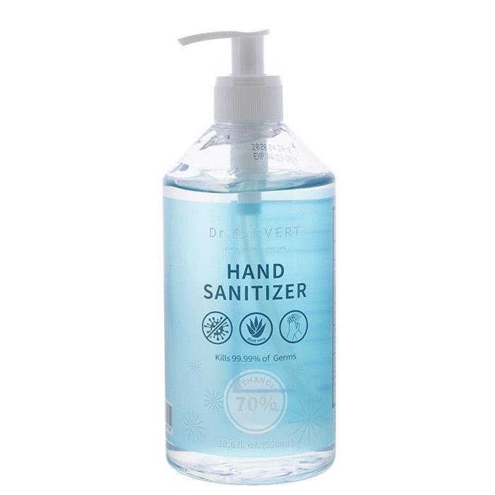 DR. IVERT 70% Alcohol Hand Sanitizer with Aloe 550ml (18.6oz)