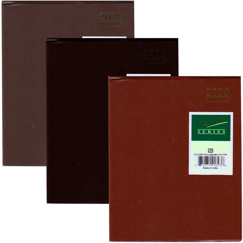 "2020 Monthly Planner, 8""x 10"", Asst. Colors, Case Pack of 48, Ideal for Bulk Buyers"