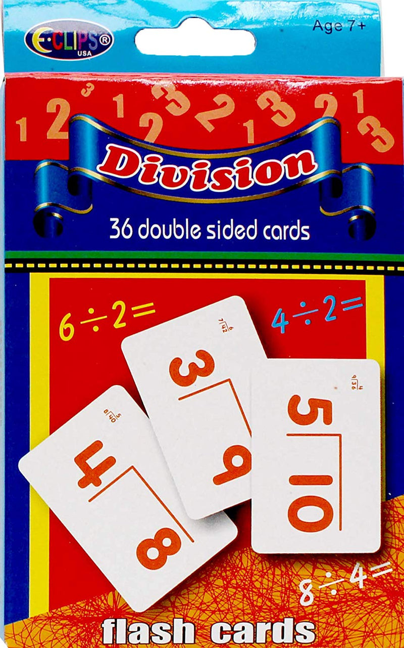AUKSales Flash Cards, Division, Case Pack of 48 , Ideal for Bulk Buyers
