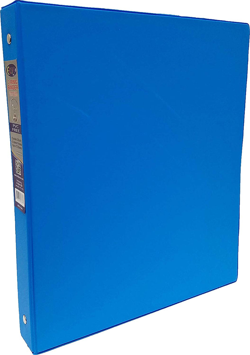 "Vinyl Binder, 1"", 2 Pockets, Neon Blue, Case Pack of 24, Ideal for Bulk Buyers"