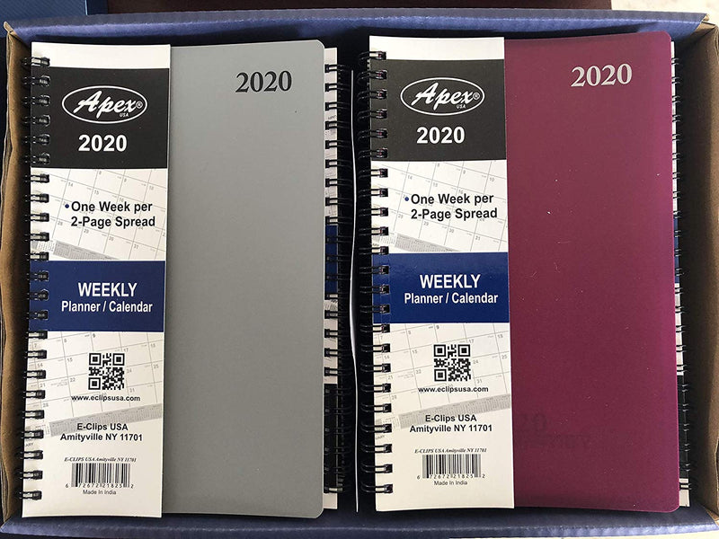 "Weekly/Monthly Planner Poly/wiro 5"" x 8"" 72 Sheets, Case Pack of 48, Ideal for Bulk Buyers"