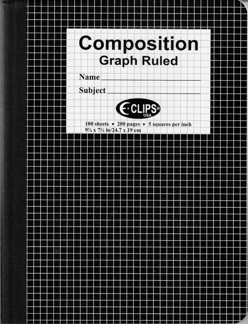 Graph Composition Book, 100 Sheets, Quad Ruled, Case Pack of 48, Ideal for Bulk Buyers