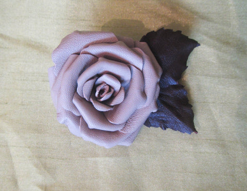 Rose Brooch flower leather, Rose Brooch leather, Сream Rose Brooch, leather brooch Сream rose, flower brooch,  flower Leather brooch Rose