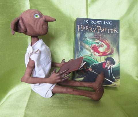 Elf Dobby, Dobby Elf doll Harry Potter, harry potter gift, house elf Dobby, Dobby Elf, Decor doll Dobby Elf