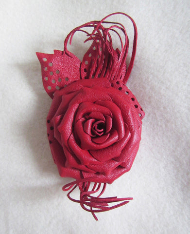 Brooch leather flower ,Red Rose Brooch leather, Red Rose Brooch handmade, mother's day gift, leather brooch flower Rose, mum gift, Red rose