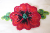 Felt Poppy brooch, felted flower corsage pin brooch, felted large flower brooch Poppy, mother day gift, felted brooch large Red Poppy, felt