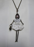Fashion Doll Necklace, Doll Necklace, Cleopatra Doll Necklace, Cleopatra Necklace, fairy Doll Cleopatra Necklace, Pendant doll Cleopatra