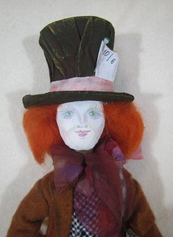 Tilda Mad Hatter in wonderland, OOAK Mad Hatte, Doll Mad Hatte, doll The Hatter, The Mad Hatter, Art Doll, Decor doll Hatter, Hatter doll