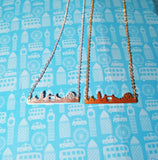 Sale London skyline necklace, London Necklace, London city skyline, London pendant, Gold London skyline necklace, Silver London skyline