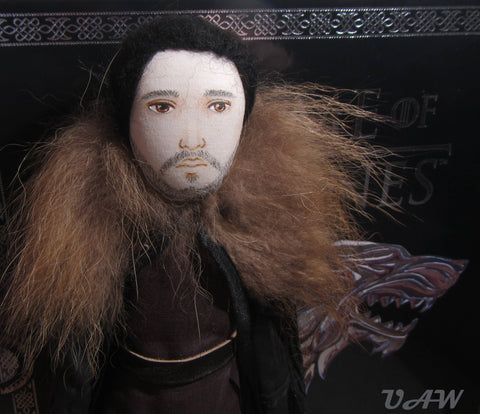 Jon Snow doll fabric, Textile doll Jon Snow, Interior doll Jon Snow, Art doll Jon Snow, OOAK Doll Jon Snow, Jon Snow Game of Thrones doll