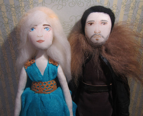 Daenerys Targaryen doll fabric, Textile doll Daenerys, Interior doll Mother of Dragons, Mother of Dragons, OOAK Daenerys, Game of Thrones