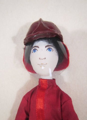 Tilda fireman doll, OOAK  fireman doll, gift for fireman, Christmas gift for the fireman, profession fireman gift, fireman gift, Decor doll