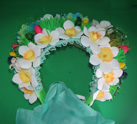 Girl's Easter Bonnet, Easter bonnet, Easter bonnet bunny, Easter bonnet, Girls Easter bonnet, Easter hat, Easter bonnet, daffodils head hoop