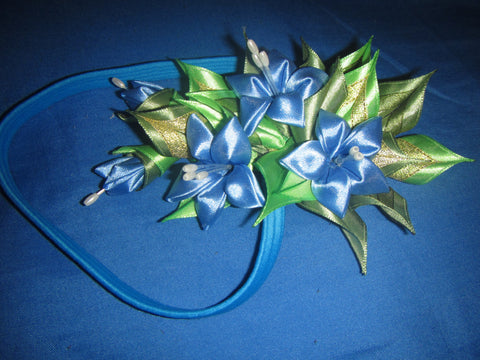 Handmade kanzashi flower, Exclusive handmade headband, Hair dressing, Gift idea for a woman
