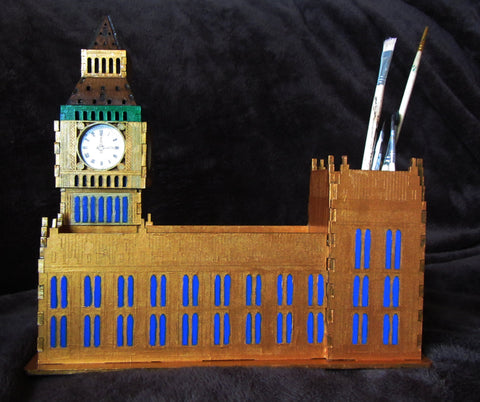 Pen organizer House of Parliament, Pen organizer Big Ben, table organizer, Office desk organizer Big Ben, The Clock Tower, House of Parliament