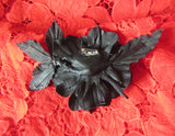"Leather Brooch ""Black Rose"", Brooch Flower ""Black Rose"", mother's day gift, Gothic brooch ""Black Rose""."