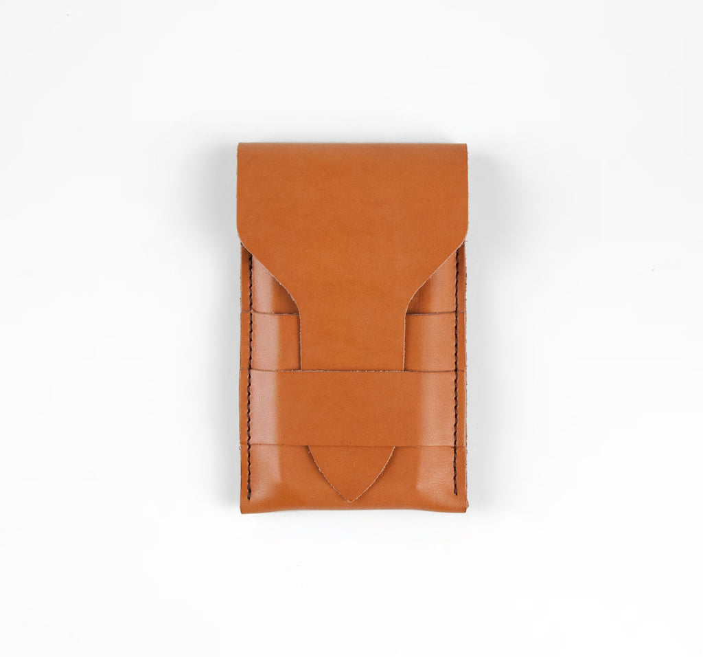 phone wallet - cognac