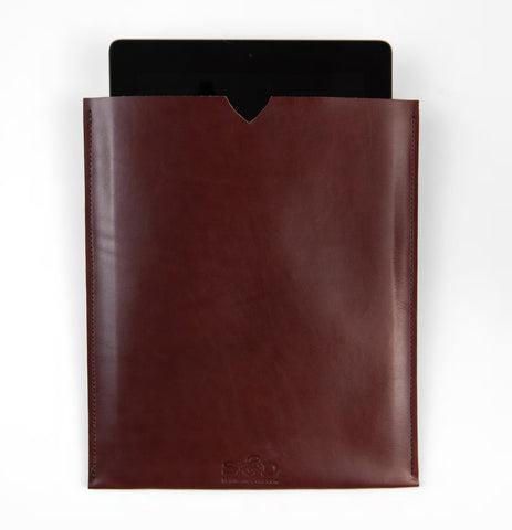 tablet case - dark brown