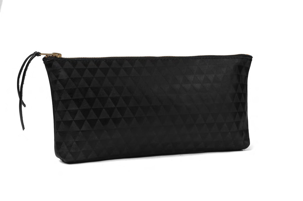 triangle clutch - black