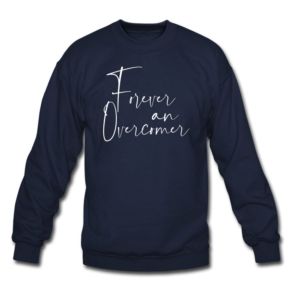 The Eva Collection - Forever an Overcomer Pullover - navy