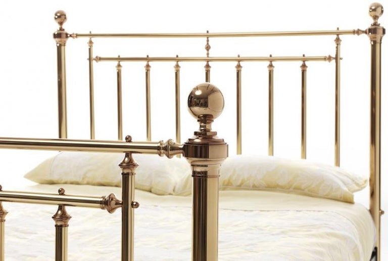 Precious Solomon Brass Metal Bed