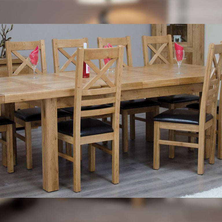 Elegance Delux Twin Leaf Extending Table 1800mm+(2x400mm) X 1000mm Available In Natural Oak Or A Painted Finish