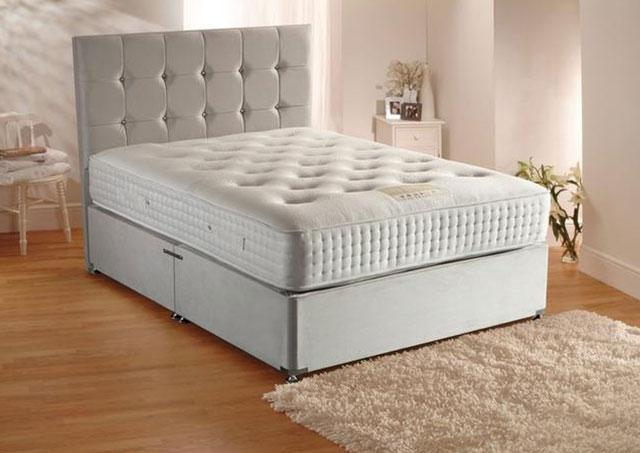 2000 Grand Luxe Divan Bed 30cm Depth Mattress (Mattress = Medium)