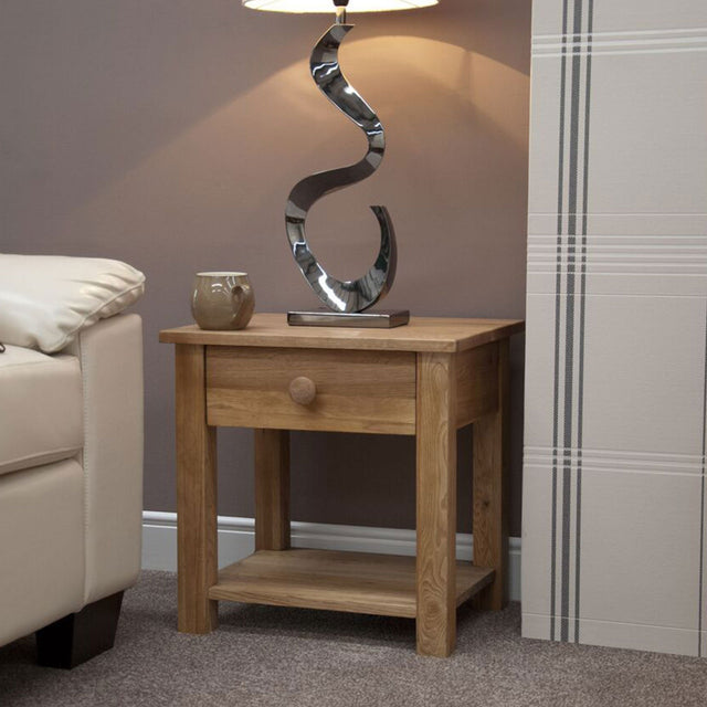 Valencia Deluxe Oak Lamp Table