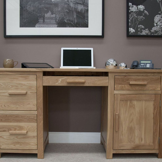 Florence Oak Large Computer Desk