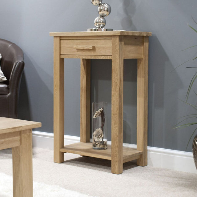 Florence Oak Small Console Table