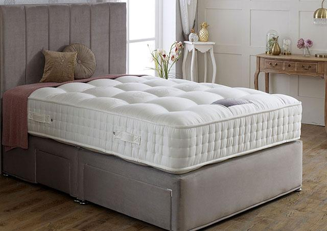 Royal Crown 1000 Divan Bed Set - Medium Firm Mattress 30cm Depth