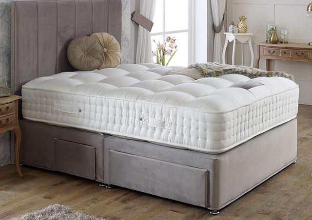 Royal Crown 2000 Divan Bed Set - Medium Firm Mattress 30cm Depth