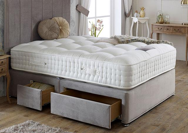 Royal Crown Natural 3000 Divan Bed Set - Medium Firm Mattress 30cm Depth