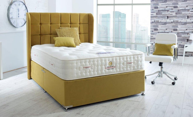 EMPRESS 5000 NATURAL DIVAN BED MEDIUM FIRM 30CM DEEP MATTRESS