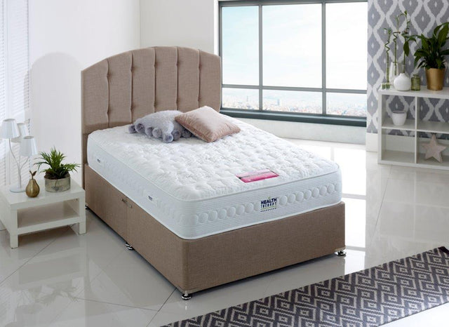 HEALTH THERAPY GEMSTONE 2000 POCKET SPRINGS TANALAY LATEX MATTRESS 26CM MEDIUM SUPPORT