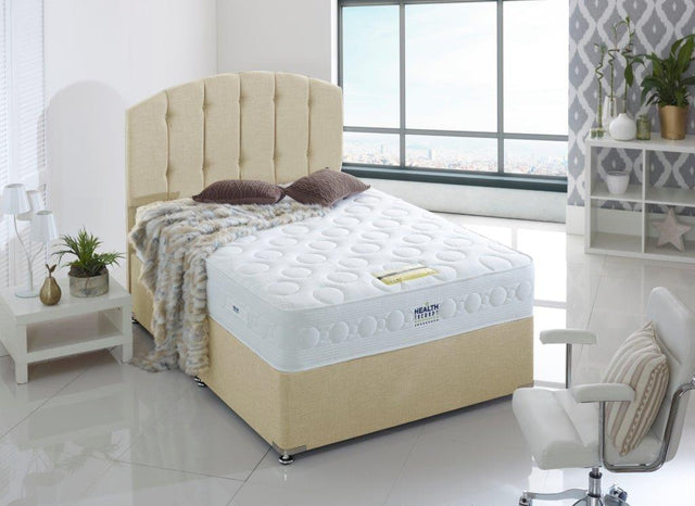 HEALTH THERAPY JEWEL 2000 POCKET SPRINGS AND LAYGEL MEMORY FOAM MATTRESS MEDIUM FIRM SUPPORT 26CM DEPTH
