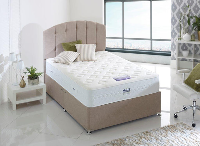 HEALTH THERAPY ORTHOPAEDIC OBSIDIAN 2000 POCKET SPRINGS DIVAN BED WITH AIRSTREAM MEMORY FOAM  26CM FIRM SUPPORT MATTRESS