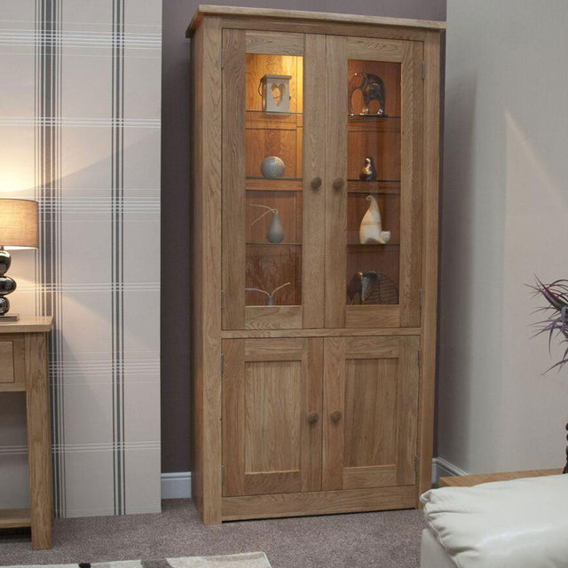 Valencia Deluxe Oak 4 Door Library Unit