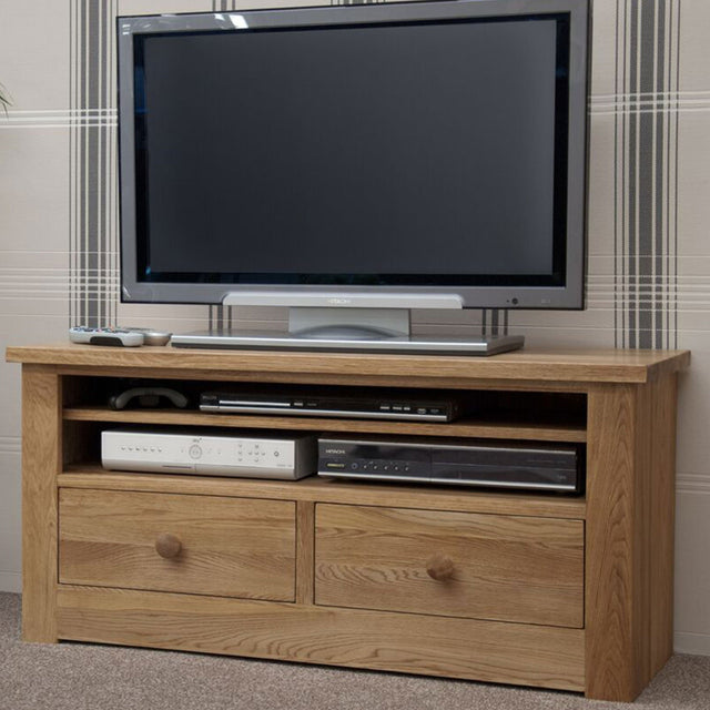 Valencia Deluxe Solid Oak Small Plasma TV Unit