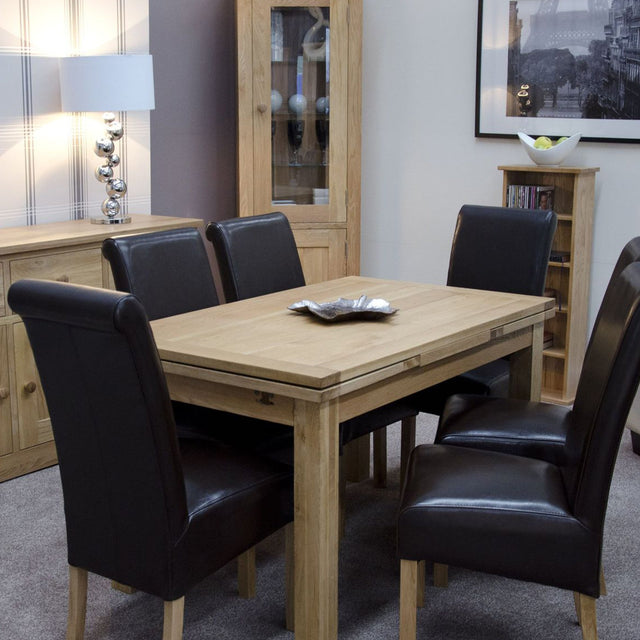 Florence Oak Medium Draw Leaf Table